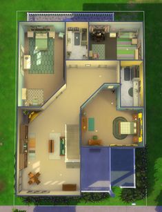 3d House Plans, Sims 4 Build, Home And Family, Geek, How To Plan, Mansions, Contemporary, House Styles, Building