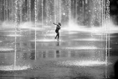 """Wish I had more time to run around in the """"rain"""" !  Beautiful photo by Valérie Trillaud for sale at KAZoART"""