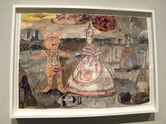 Grayson Perry, Wedding of Alan Measles and Claire, 2010, watercolour, ink and collage on paper, 41.9 x 59 cm