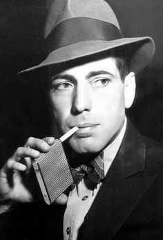 Humphrey Bogart - classic style! I never knew Bogart was handsome. He has a very ethnic look that I love!