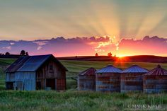Farm outside of Cheney at Sunset Photo Credit- Mark Kiver Photography