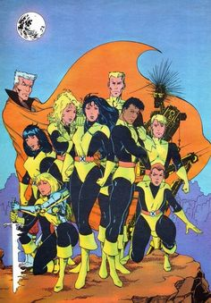 Cool New Mutants pinup circa 1986, although I don't know the artist.