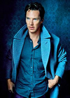 Benedict Cumberbatch, symphony in blue.