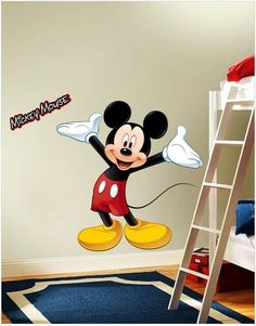 A classic style Mickey Mouse easy-to-apply wall-sticker for your kid's room!    Find more lovely designs on gloob.in    And get discounts on all our products by joining us on facebook.com/iamgloob