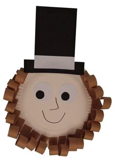 Abraham Lincoln Paper Plate Craft.