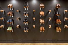 Shoes on the wall ! at Barker Black shop in Los Angeles.  #hipshops #losangelesstore #walldisplay