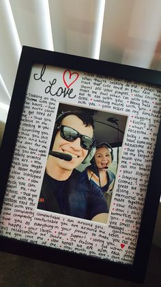 Reasons Why I Love You Photo Frame Valentine Gifts Boyfriend Valentines Military