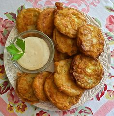 BEER-BATTERED FRIED ZUCCHINI with HONEY-MUSTARD RANCH DIPPING SAUCE  http://wildflourskitchen.com/2013/08/12/summertime-beer-battered-fried-zucchini-with-honey-mustard-ranch-dipping-sauce/