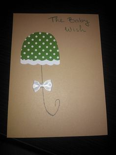 Baby wish card Wishes For Baby Cards, Artist, Handmade, Hand Made, Artists, Craft