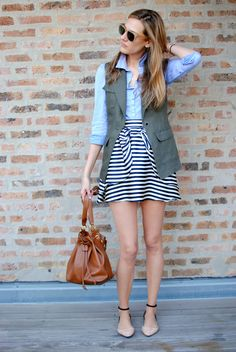 stripes/chambray/vest