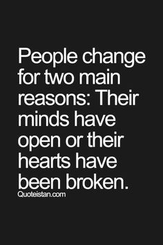 The 2 reasons people change