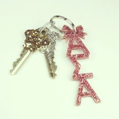Alpha Sigma Alpha pink keychain sorority shop I need this Gamma Phi Beta, Alpha Sigma Alpha, Theta, Sigma Tau, Sorority Names, Sorority Crafts, Greek Girl, Psi Upsilon, Keychains