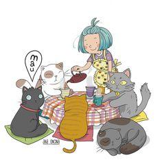 """""""Mi piace"""": 1,365, commenti: 25 - Ana Oncina (@ana_oncina) su Instagram: """"¡Que hoy es el día internacional del gato! 🐈🐈🐈🐈🐈 #gato #diainternacionaldelgato #cat #catsday…"""""""