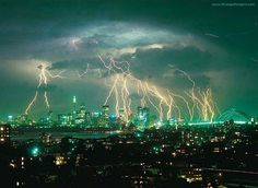 Beautiful lightning storm..