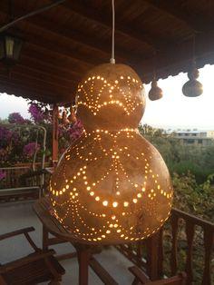 Decorative Gourds, Hand Painted Gourds, Spiritual Garden, Gourds Birdhouse, Gourd Lamp, Earth Homes, Light Art, African Art, Fun Crafts