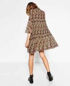 FINELY PLEATED AND PRINTED DRESS-DRESSES-WOMAN   ZARA United Kingdom
