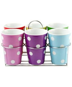 Multi Dots Mug Set of 6