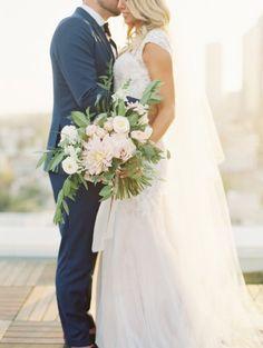 beautiful overflowing wedding bouquet