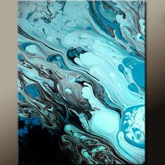 $20.00 Abstract Fine Art Print - Matted 11X14 Contemporary Modern Wall Art Prints by Destiny Womack - dWo - Tears of Joy