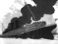 Winsor McCay's THE SINKING OF THE LUSITANIA (1918). The Sinking of the Lusitania, released in 1918, is an animated short film by American artist Winsor McCay. It features a short 12 minute explanation of the sinking of RMS Lusitania after it was struck by two torpedoes fired from a German U-boat. The film was one of many animated silent films published to create anti-German sentiment during World War I. McCay illustrated some 25,000 drawings for the production.