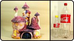 ❣DIY Whimsy Fairy House Lamp Using Coke Plastic Bottles❣ - YouTube