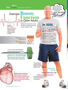Excercise boosts function in older adults.  Looking at cardiovascular, power and strength training. We're all getting older.