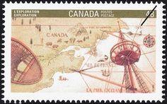 Sello: Exploration (Canadá) (Canada 92 International Stamp Exhibition) Mi:CA 1281,Sn:CA 1406,Yt:CA 1236,Sg:CA 1489