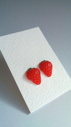 Strawberry earrings <3