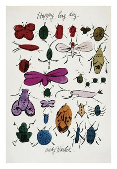 Happy Bug Day, c.1954 Giclee Print by Andy Warhol...the only bugs I want to see!