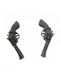 Black Revolver Earrings