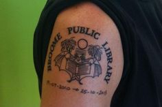 For librarian Dan Lee, inking the library's logo onto his skin was the perfect way to end that chapter of his life. http://www.almaalexander.org/tattooed-librarian/