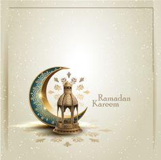 Islamic greeting ramadan kareem card design with crescent and lantern Premium Vector Eid Mubarak Wishes, Eid Mubarak Greeting Cards, Eid Mubarak Greetings, Islamic Patterns, Doodle Patterns, Ramadan Poster, Ramadan Cards, Stationary Printable, Flyer And Poster Design