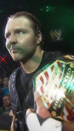 Dean Ambrose with the US Championship