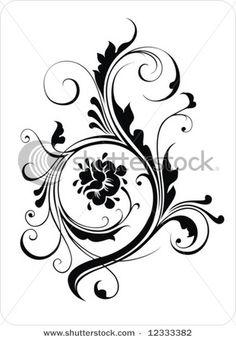 Watercolor filigree tat