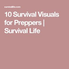 10 Survival Visuals for Preppers | Survival Life