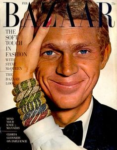 Steve McQueen Harpers Bazaar mag cover 1965 - my ideal man