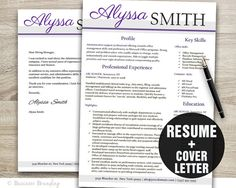 resume cover letter template resume template cv template instant download resume download - What Is A Resume Cover Letter