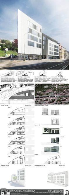 Studentský projekt. LS 2013/2014. FSv ČVUT v Praze. Ideas Paneles, Praha, Floor Plans, Building, Board, Presentation Board Design, Buildings, Construction, Floor Plan Drawing