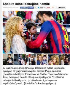 Shakira ikinci bebeğine hamilee