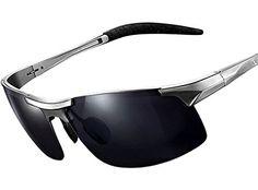 ATTCL® 2016 polarisierende Metal Sonnenbrille herren Sportbrille 8177 Night Vision 8B3xVf