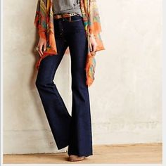 👑 host pick!! Jeans flare Anthropologie New flare high waist has strech Anthropologie Jeans