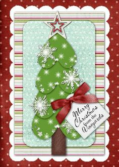 Christmas Tree heart card Greeting Card Template ID: 71801 Homemade Christmas Cards, Homemade Cards, Handmade Christmas, Christmas Crafts, Christmas Tree, Christmas Layout, Greeting Card Template, Greeting Cards, Xmas Cards