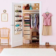 Saves space and add drawers and door organizers!