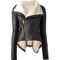 Leather jacket with wool on the inside