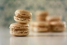 Walnut macaron with rum and raisin ganache filling by Christy@5typesofsugar, via Flickr