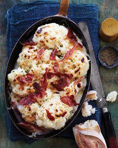 Cauliflower Au Gratin with Crispy Pancetta
