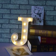CSKB LED Marquee Letter Lights 26 Alphabet Light Up Marquee Letters Sign For Wedding Birthday Party Battery Powered Christmas Night Light Bar Decoration -J * Continue to the product at the image link. (This is an affiliate link) #DecorativeAccessories