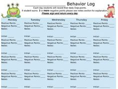 Customizable Class Dojo Behavior log