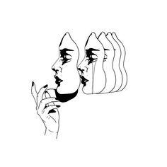 motifs floraux de tatouage - tatouages et art corporel - Kreslení Art And Illustration, Art Sketches, Art Drawings, Psychedelic Art, Art Inspo, Line Art, Cool Art, Art Photography, Artsy