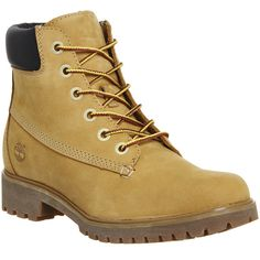 Timberland Slim 6inch Premium Boots (240 CAD) ❤ liked on Polyvore featuring shoes, boots, ankle booties, hers exclusives, wheat nubuck, women, laced ankle boots, ankle boots, lightweight boots and lace-up ankle booties